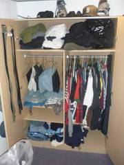 Wardrobe,  Entertainment,  and Nightstand $150.00 for All 3
