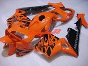 03-05 CBR 600rr Orange tribal fairings