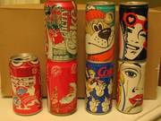 Coke cans - collector's items from the 1980s-1990s