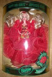 Barbie dolls,  Special edition Happy Holidays & Barbie collectibles