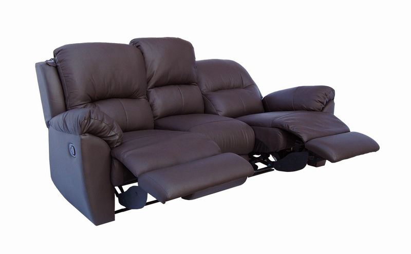 Sofa italian genuine leather seating recliner no for Genuine leather sectional sofa toronto