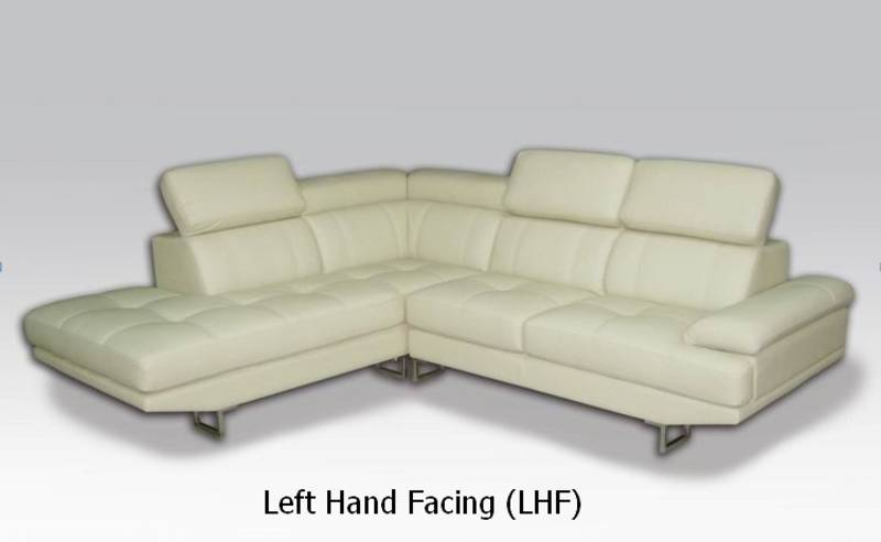 Modern genuine leather sectional sofa setno bonded for Leather sectional sofa sale toronto