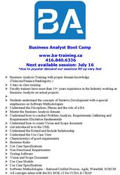 Business Analyst Training – job placement support
