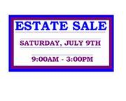 ESTATE SALE! Sat. July 9th,  9am-3pm EVERYTHING MUST GO!!