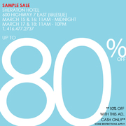 SAVE 40-80% OFF RETAIL,  WOMEN'S AND MEN'S APPAREL