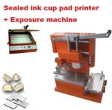 Sealed ink cup pad printer + polymer cliches making package