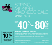 SPRING MIDNIGHT MADNESS SALE