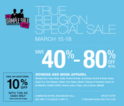 40-80% off True Religion Jeans