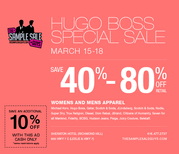 Save 40-80% off HUGO BOSS SPECIAL SELL