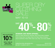 SUPER DRY CLOTHING SALE