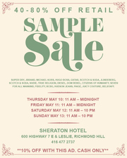 >>> COME TO SAMPLE SALE GUYS
