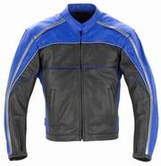 *NEW* Streetz Eclipse Black Leather Jacket - Blue / Black