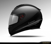 *NEW* Zoan Lightning Impact Matte Black Motorcycle Helmet