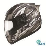 *NEW* GMAX GM69S Motorcycle Helmet Crusader II -Flat Titanium