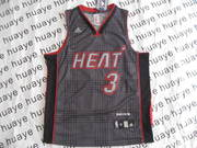 Wholesale Cheap Miami Heat 3 Wade Black Rhythm Swingman NBA Jerseys