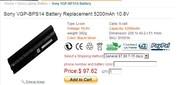 Sony VGP-BPS14 battery