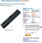Dell Latitude E6320 batteries