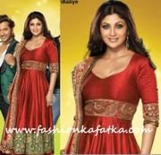 Shilpa Shetty style Red Anarkali - Nach Baliye 5 launch