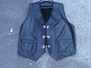 Heavy Duty Custom Leather Motorcycle Vest - 3XL