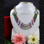 Glass Beads Necklaces from TajPearl.com. Worldwide shipping available