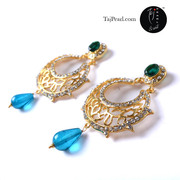 Gold Plated Earrings from TajPearl.com. International shipping