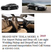 Brand New Tesla 2015 for your 3 Passenger transportation