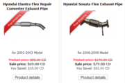 Wholesale Hyundai Elantra Exhaust Flex Pipe