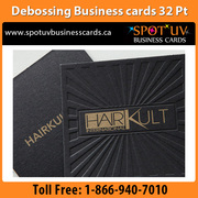 0 Brand Quality Debossing Business Cards in Toronto