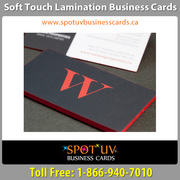Soft Touch Business Cards By Spot UV