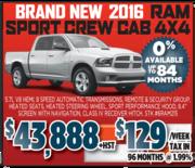 2016 RAM Sports Crew Cab Toronto