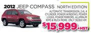2012 Jeep Compass North Edition Toronto