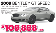 2009 Bentley GT Speed Toronto