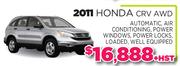 2011 Honda CRV AWD Toronto