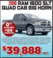 2016 Ram 1500 Slt Quad Cab Big Horn