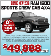 2016 Ram 1500 Sports Crew Cab 4X4 in Toronto