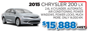2015 Chrysler 200 LX in Toronto