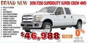 New 2016 F250 Super duty Super Crew 4WD