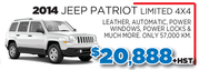 2014 Jeep Patriot Limited 4x4 in Toronto
