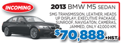 2013 BMW M5 Sedan in Toronto
