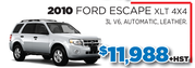 2010 Ford Escape XLT 4x4 for Sale in Toronto