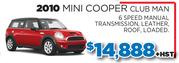2010 Mini Cooper Club Man in Toronto