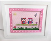 Little pink owls kids room decor