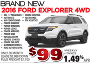 New Ford Explorer 4WD in Toronto