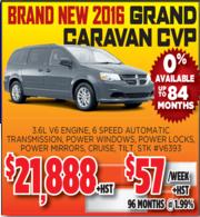 New 2016 Grand Caravan CVP Toronto