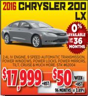 2016 Chrysler 200 LX for Sale Toronto