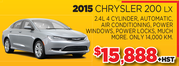 2015 Chrysler 200 LX for Sale in Toronto