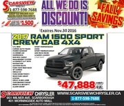 2017 RAM 1500 Sports Crew Cab 4X4 Toronto