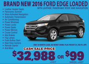 New 2016 Ford Edge Loaded