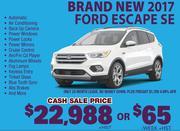 New 2017 Ford Escape SE Toronto