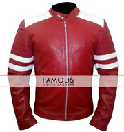 Fight Club Brad Pitt Red/White Mayhem Jacket